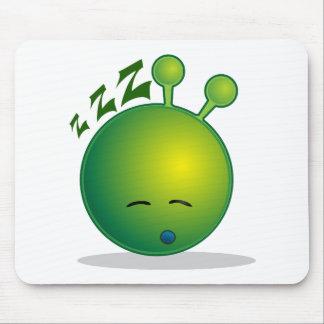 alien-294250  alien smiley green sleepy sleeping t mouse pad
