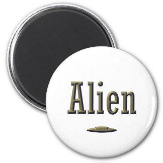 Alien 2 Inch Round Magnet