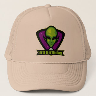 Alien 3rd Birthday Gifts Trucker Hat