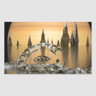 alien-445408 SCIENCE FICTION FANTASY WORLDS alien Rectangular Sticker