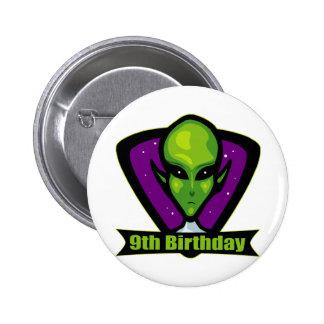 Alien 9th Birthday Gifts Pinback Button