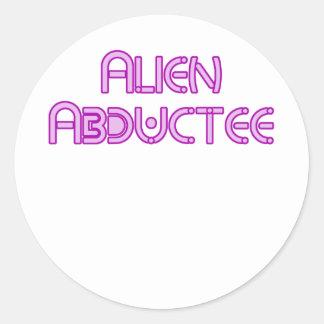 Alien Abductee by Chillee Wilson Classic Round Sticker