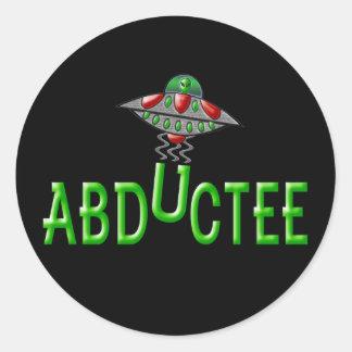 Alien Abductee Classic Round Sticker