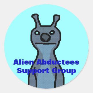 Alien Abductees Support G... Classic Round Sticker