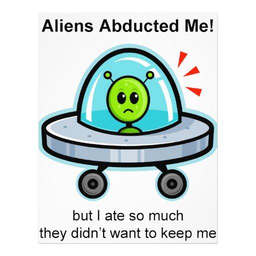 """Alien Abduction 8.5"""" X 11"""" Flyer"""