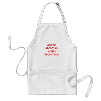 alien abduction adult apron