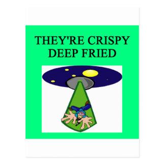 alien abduction  area 51 ufo joke postcard