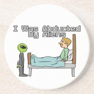 Alien Abduction Beverage Coasters