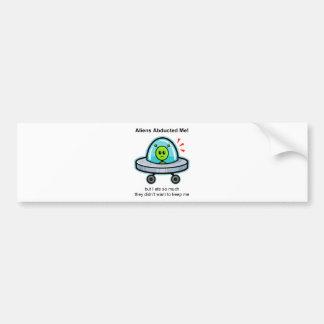 Alien Abduction Car Bumper Sticker