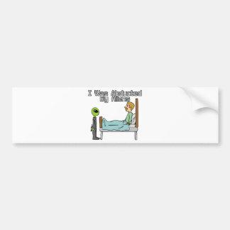 Alien Abduction Bumper Sticker