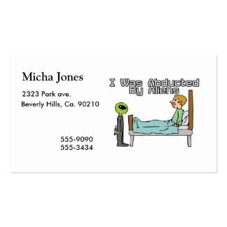Alien Abduction Business Card Templates