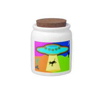 Alien Abduction Candy Jars