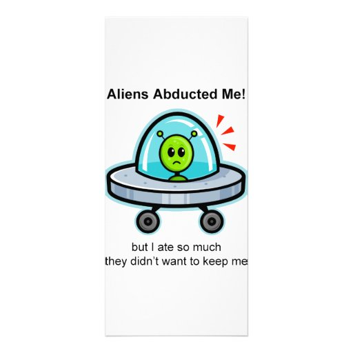 Alien Abduction Custom Rack Cards