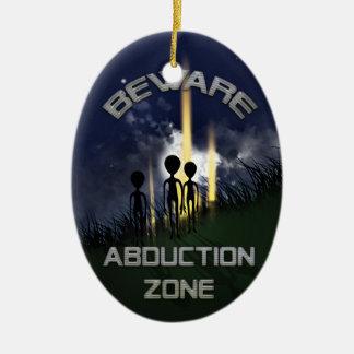 Alien Abduction Door Hanger Christmas Tree Ornament