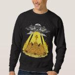Alien Abduction Egyptian Pyramids Ancient UFO Sweatshirt