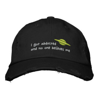 Alien abduction embroidered hat