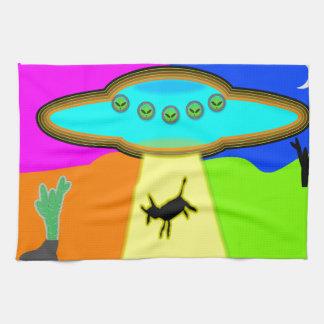 Alien Abduction Hand Towel