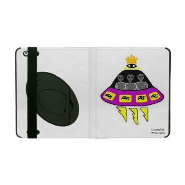 Alien Abduction iPad 2/3/4 Case With Kickstand