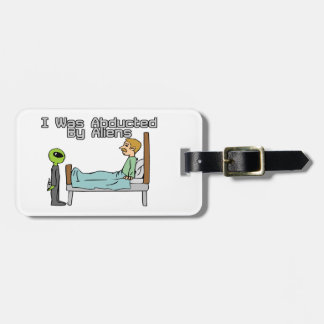 Alien Abduction Luggage Tag
