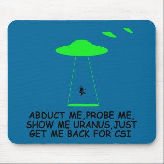 Alien abduction mouse pad