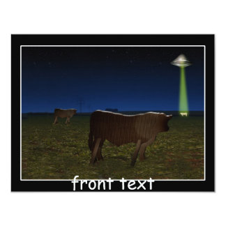 Alien Abduction of Fake Cows in the Pasture Personalized Invitation