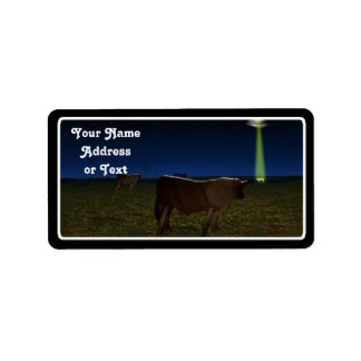Alien Abduction of Fake Cows in the Pasture Custom Address Labels