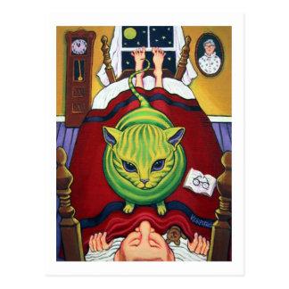 Alien Abduction - or Cat Owner? Postcard