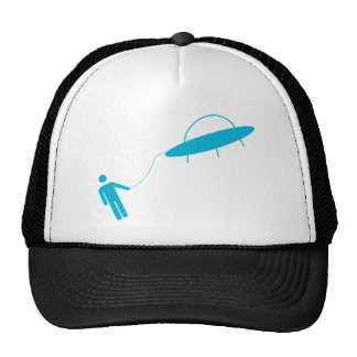 Alien abduction or hitching a ride? trucker hat