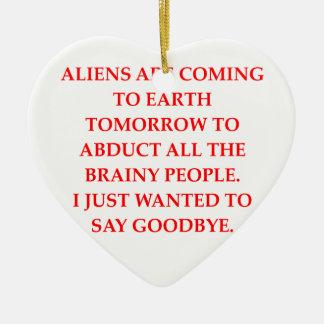 alien abduction christmas tree ornaments