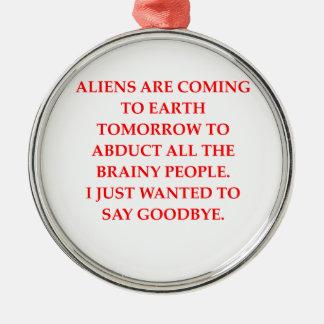 alien abduction christmas tree ornament