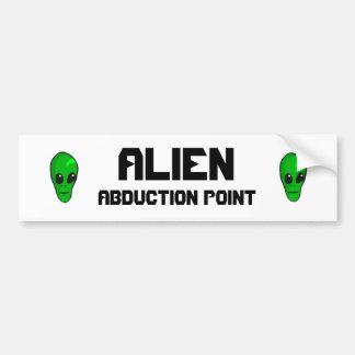 ALIEN, ABDUCTION POINT CAR BUMPER STICKER