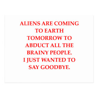 alien abduction postcard