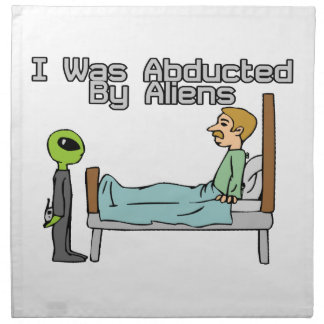 Alien Abduction Printed Napkins