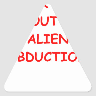 alien abduction triangle stickers