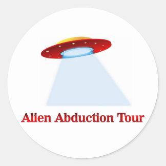 Alien Abduction Tour Classic Round Sticker