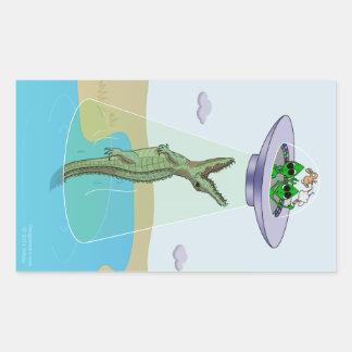 Alien Abduction Trauma Rectangular Sticker