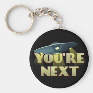 Alien Abduction, You Are Next Basic Round Button Keychain