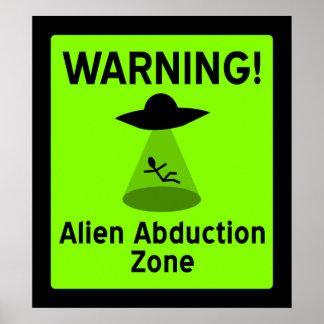 Alien Abduction Zone Poster