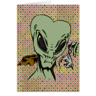Alien Abductions Of Mice Card