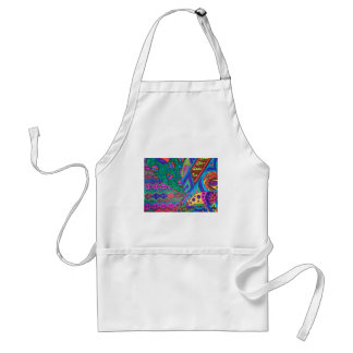 alien abstract adult apron