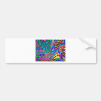 alien abstract bumper sticker