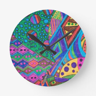 alien abstract round clock