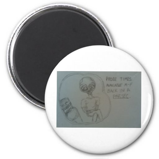 alien advertisement fridge magnet