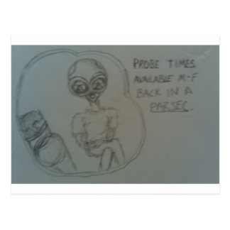 alien advertisement postcard