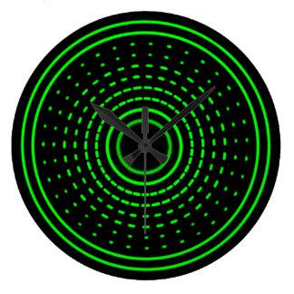 Alien Alarm Green Abstract Gamma Led Light Clock
