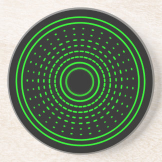 Alien Alarm Green Abstract Gamma Led Light Coaster
