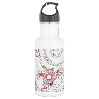 Alien Alphabet Tangle 2 18oz Water Bottle