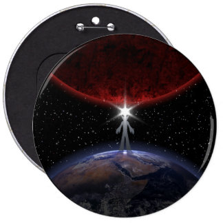 Alien Among The Planets Button