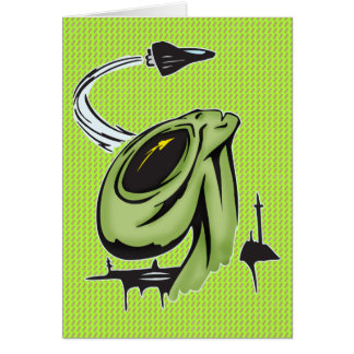 Alien and Airplane Card