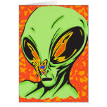 Alien and Butterfly Greeting Cards